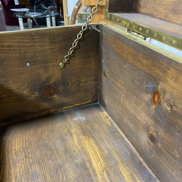 Vintage Brass Trunk For Sale - Image 11 of 13