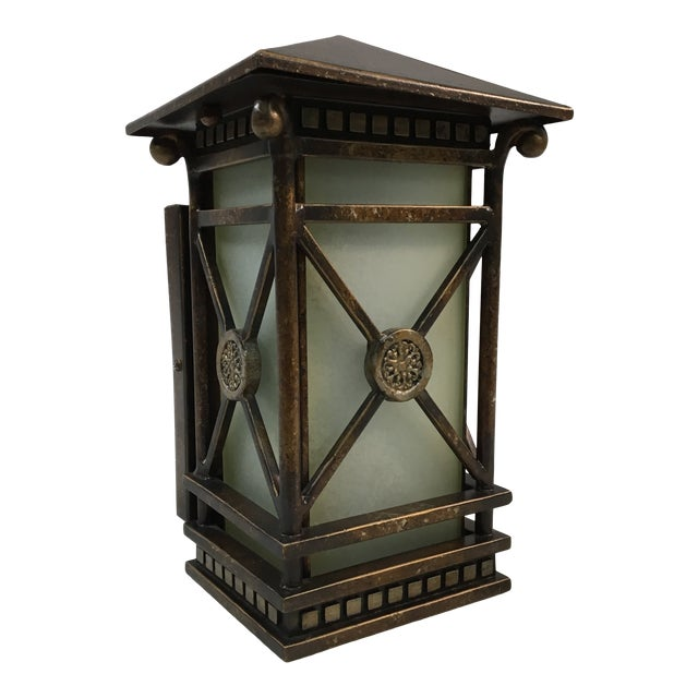 Grecian Style Outdoor Wall Sconce For Sale