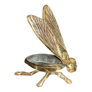 Brass Fly Trinket Box Ashtray