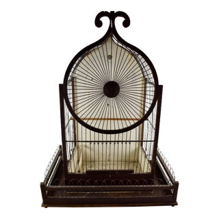 1800s American Victorian Gothic Folk Art Bird Cage For Sale