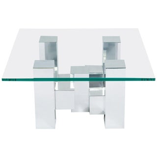Cityscape Cocktail Table in the Style of Paul Evans For Sale