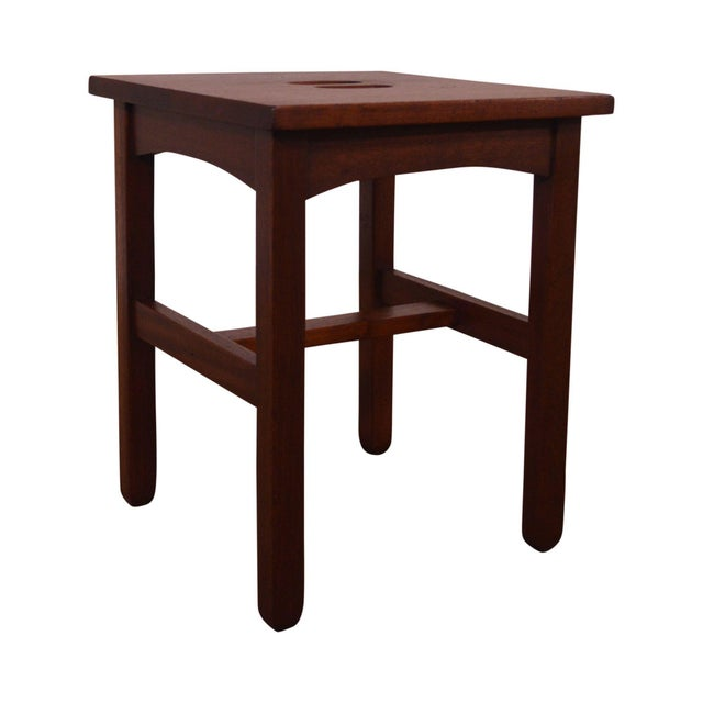 Antique Mission Style Mahogany Taboret Side Table For Sale - Image 13 of 13