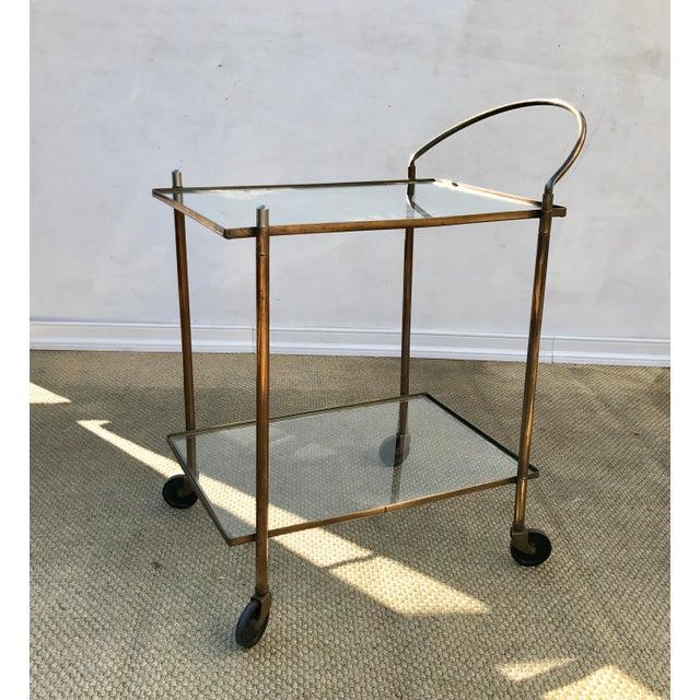 Brass Vintage Brass Bar Cart For Sale - Image 7 of 10