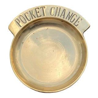 Mid 20th Century Brass Pocket Change Dish For Sale