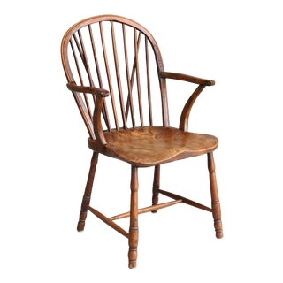 Antique English Windsor Youth Chair For Sale