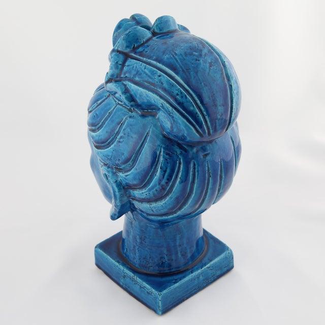 """Rimini Blu"" ceramic Guan Yin bust by Aldo Londi for Bitossi, circa 1960s For Sale - Image 9 of 13"