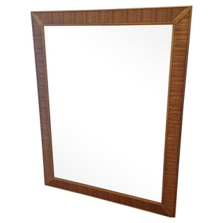 Large Gold Mid-Century Mirror With Carved Detail For Sale