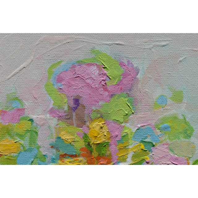 """2010s Abstract """"Bouquet on Light Gray Ground"""" Painting by Stephen Remick For Sale - Image 5 of 11"""