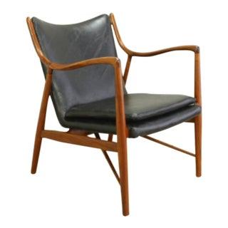 1950s Vintage Finn Juhl 45 Teak Frame Chair For Sale