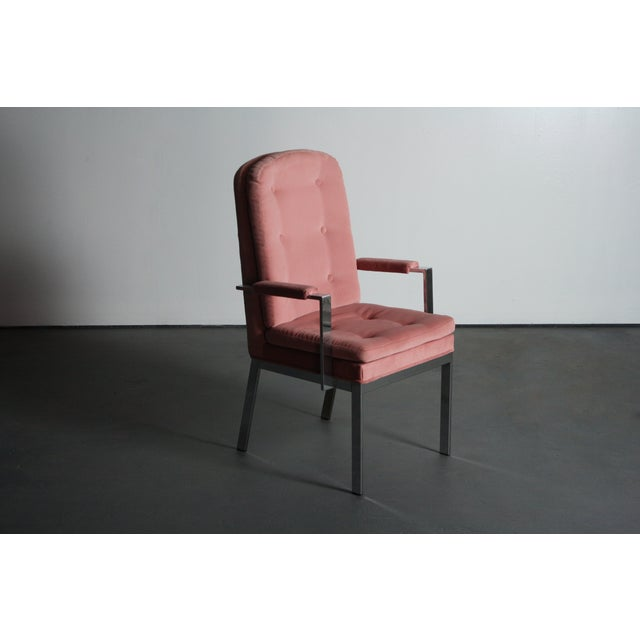 Milo Baughman for DIA Blush Dining Chairs - S/6 For Sale - Image 7 of 12