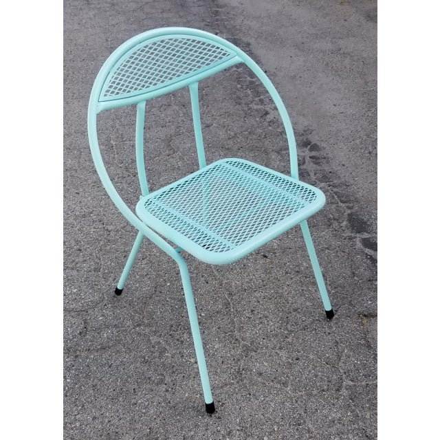 1950s Rid-Jid Steel Outdoor/Patio Dining Table With Chairs Set For Sale - Image 5 of 8