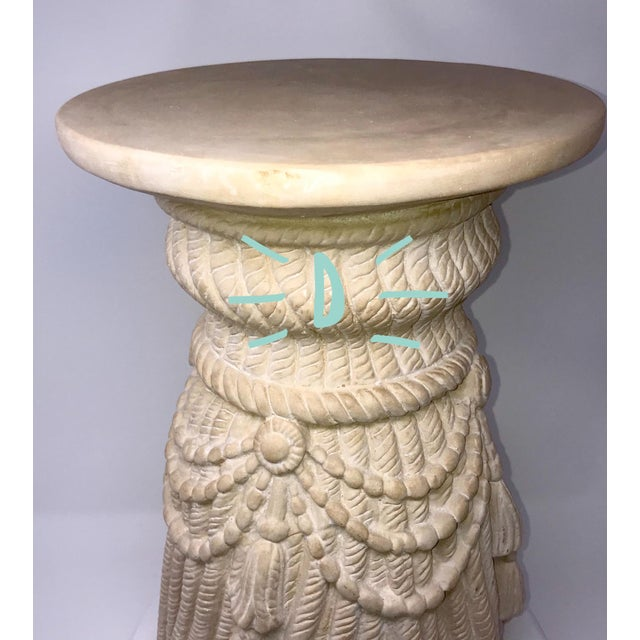 Late 20th Century Hollywood Regency Tassel Fringe Rope Side Tables- Set of 4 For Sale - Image 9 of 10