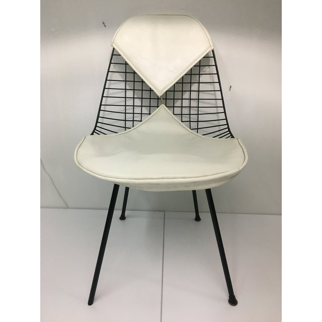 Vintage White on Black D K R Bikini Chair by Charles Eames for Herman Miller For Sale - Image 13 of 13
