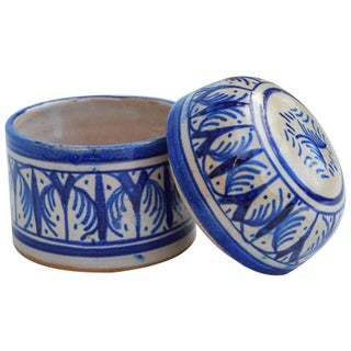 Blue Moroccan Lidded Jar Preview