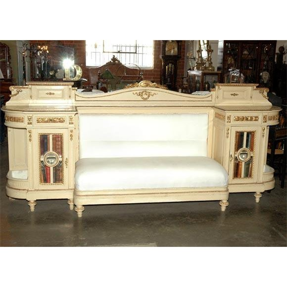 Gold Banquette and Credenza For Sale - Image 8 of 10