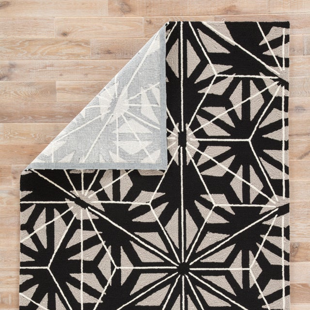 Jaipur Living Haige Indoor/ Outdoor Geometric Black/ Gray Area Rug - 2′ × 3′ For Sale - Image 4 of 6
