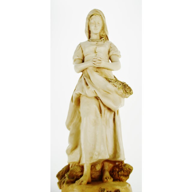 Chalk Marwal Ind. Inc. Vintage L'Angelus Chalkware Statue For Sale - Image 7 of 10