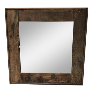 Restoration Hardware Salvaged Reclaimed Boat Wood Framed Mirror