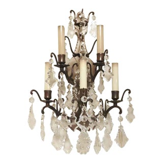 Waldorf Astoria French Louis the XVI Suite Crystal Sconce For Sale