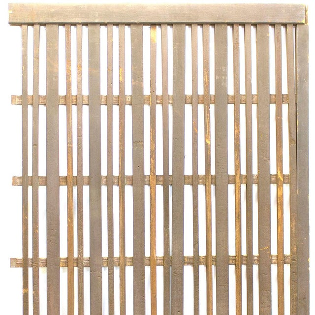 Japanese Japanese Machiya Cedar Exterior Panel/Screen For Sale - Image 3 of 7