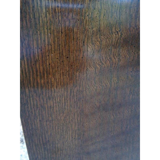 Mid Century Quartersawn Oak Chinoiserie Coffee Table For Sale - Image 10 of 13
