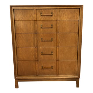 1960s Mid Century Modern Kroehler Fruitwood Chest of Drawers For Sale