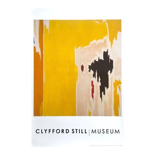 "Clyfford Still Abstract Expressionist Lithograph Print Poster ""Ph - 1074"", 1956 For Sale"
