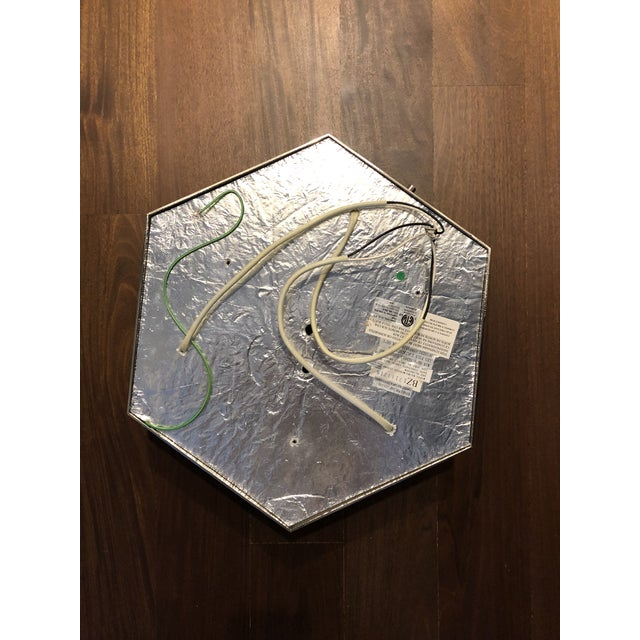 Ralph Lauren Berling Large Flush Mount in Polished Nickel with Frosted Glass Socket: 3 - E26 Keyless Wattage: 3 - 60 A