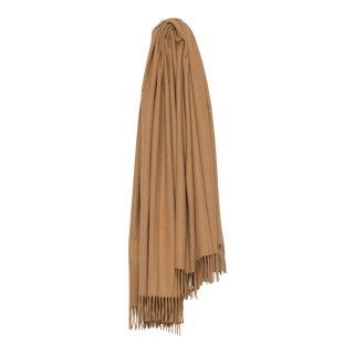 Arran Plain Cashmere Throw, Sand For Sale