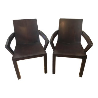 Mid-Century Modern Dakota Jackson Library Arm Chairs - a Pair