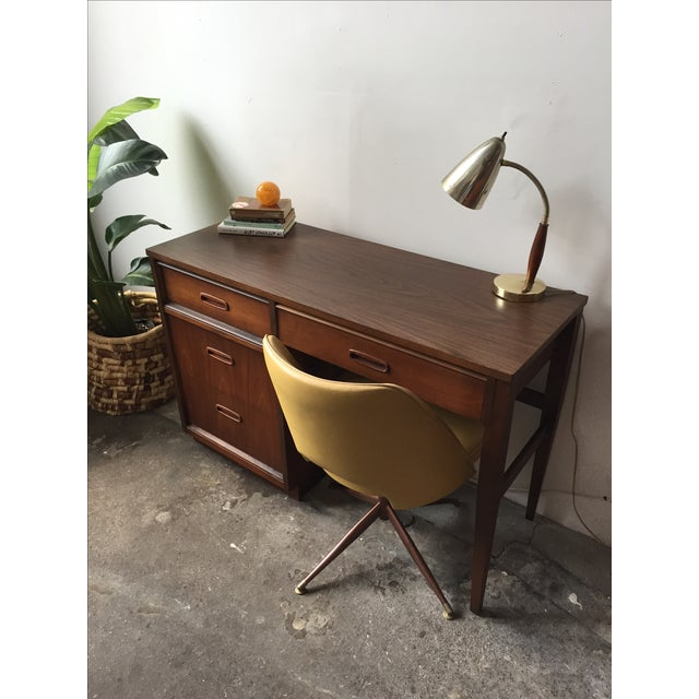 Bassett Mid-Century Walnut Desk - Image 6 of 6
