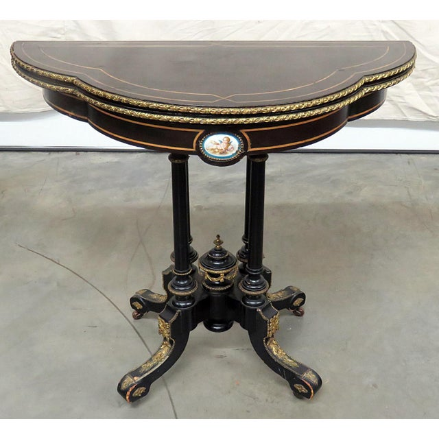 Louis Philippe Flip Top Card Table For Sale - Image 10 of 10