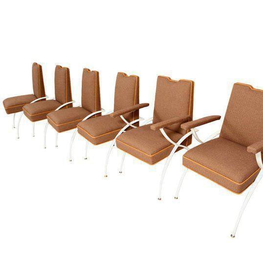 Mid-Century Modern Dining Set Chairs.