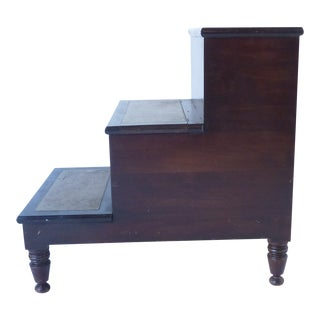 19th Century English Mahogany Library Steps For Sale