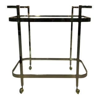 Milo Baughman 2-Tier Brass Bar Cart