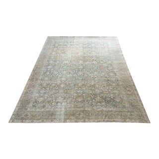 Vintage Hand Woven Faded Rug For Sale