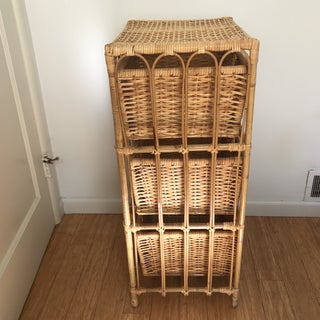 Rattan Bamboo Storage Unit Preview