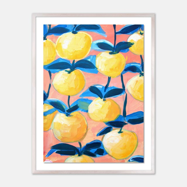 Orchard 2 by Lulu DK in White Wash Framed Paper, Medium Art Print For Sale - Image 4 of 4