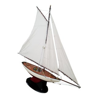 1923 Antique Sailboat Model For Sale