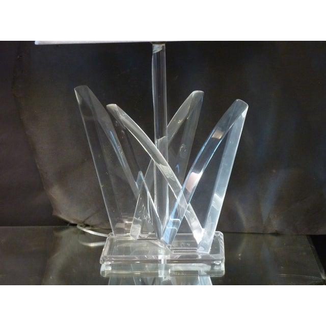 Mid-Century Modern Van Teal Acrylic Lamp For Sale - Image 3 of 4