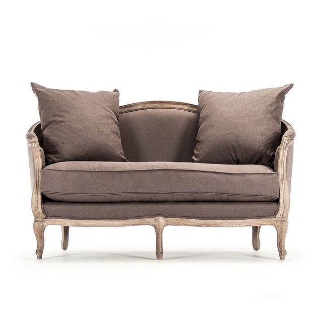 Hollow Maison Settee in Aubergine For Sale - Image 10 of 10