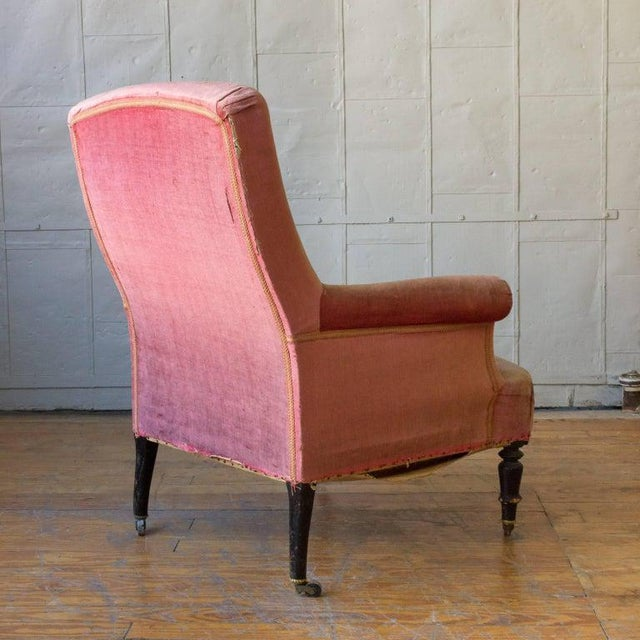 19th Century French Armchair and Ottoman For Sale - Image 10 of 11