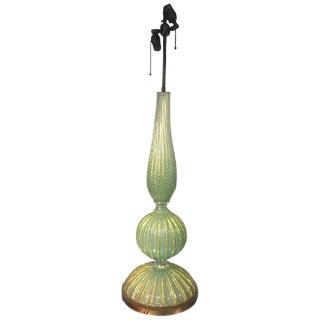 BEAUTIFUL BAROVIER & TOSO MURANO GLASS CORDONATO D'ORO TABLE LAMP For Sale