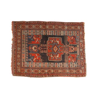 """Antique Kamseh Rug - 4'1"""" x 5'5"""" For Sale"""