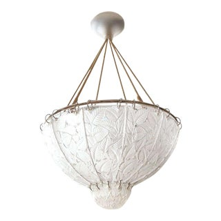 "R. Lalique Chandelier ""Feuilles De Charmes"" For Sale"