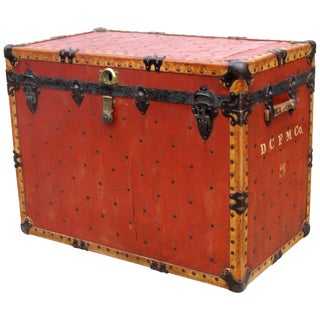 Circus Red Riveted Traveling Trunk