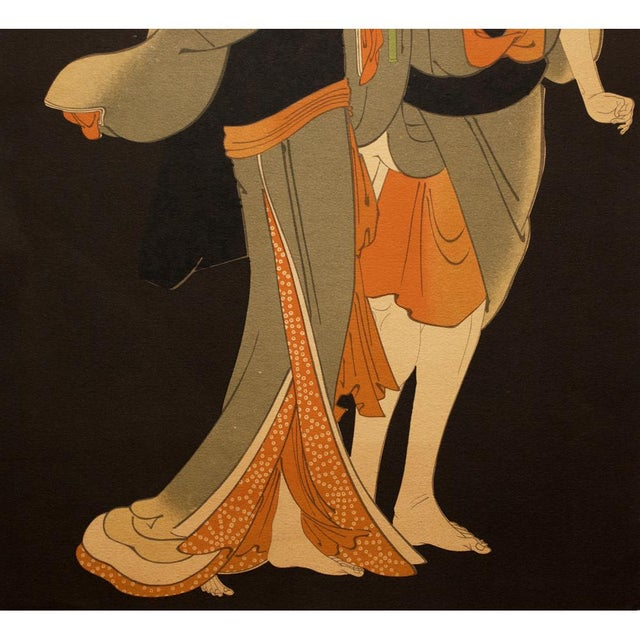 Asian 19th C. Kabuki Actors Print by Tōshūsai Sharaku For Sale - Image 3 of 6