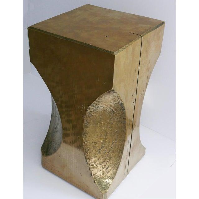 Gold Bespoke Custom Totem Table For Sale - Image 8 of 8