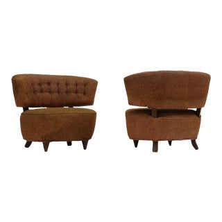 Pair of Gilbert Rohde Slipper Lounge Chairs For Sale