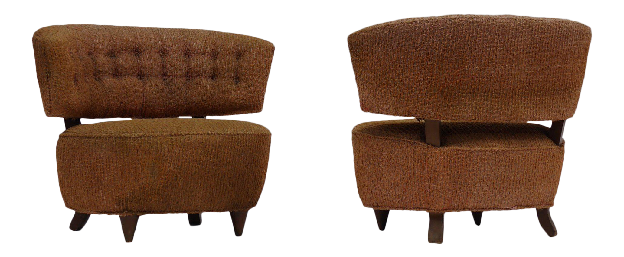 Pair Of Gilbert Rohde Slipper Lounge Chairs   Image 1 Of 7